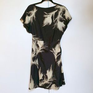 zara printed silk dress